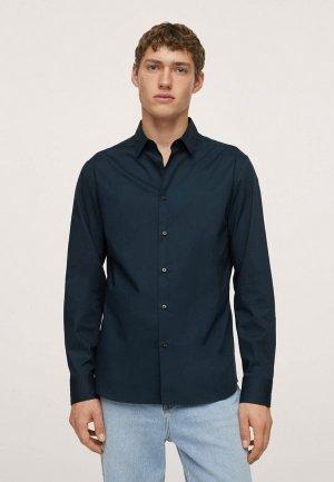 Рубашка Mango Man PLAY. Цвет: синий