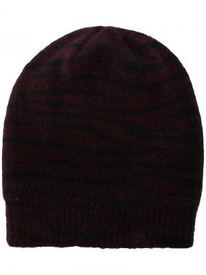 Вязаная шапка-бини Ssheena. Цвет: красный