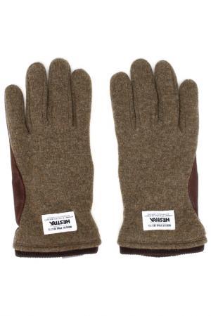 Перчатки NORSE PROJECTS. Цвет: зеленый