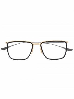Очки трапециевидной формы Dita Eyewear. Цвет: черный