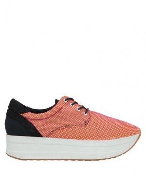 Низкие кеды и кроссовки VAGABOND SHOEMAKERS. Цвет: коралловый