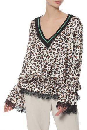 Блуза Anna Rita N. Цвет: леопардовый