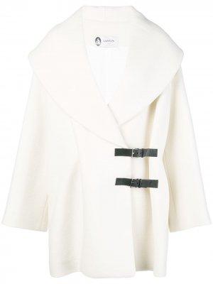 Wool coat LANVIN. Цвет: белый