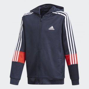 Толстовка 3-Stripes AEROREADY Primeblue Performance adidas. Цвет: красный