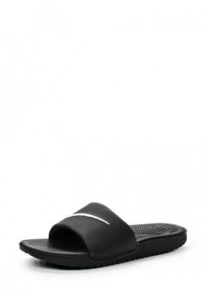 Сланцы Nike BOYS KAWA (GS) SLIDE. Цвет: черный