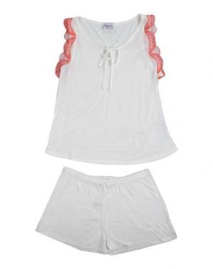 Пижама BLUGIRL BLUMARINE UNDERWEAR. Цвет: белый