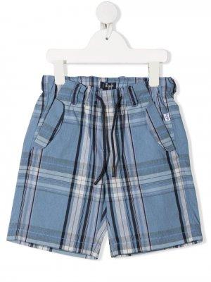 Plaid-print drawstring shorts Il Gufo. Цвет: синий