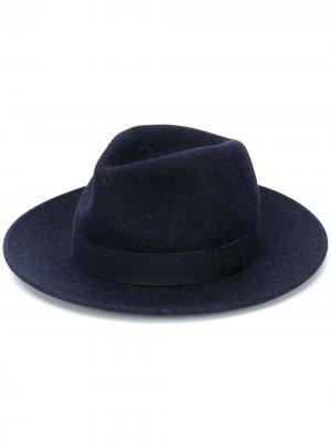 Шляпа-федора Emporio Armani. Цвет: синий