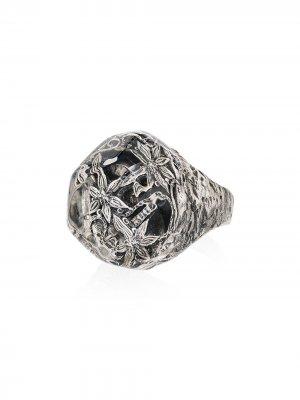 Серебряное кольцо с кристаллом Lyly Erlandsson. Цвет: серебристый