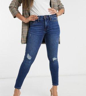 Рваные джинсы скинни с классической талией Molly-Синий River Island Petite
