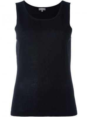 Майка с круглым вырезом N.Peal. Цвет: черный