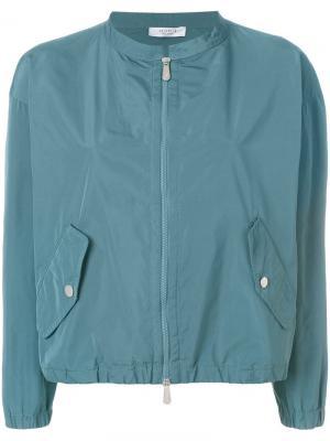 Куртка-бомбер на молнии Peserico. Цвет: синий