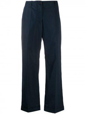 Прямые брюки чинос с завышенной талией Aspesi. Цвет: синий