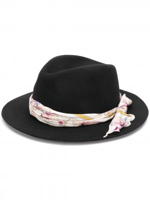 Фетровая шляпа-федора Forte. Цвет: черный