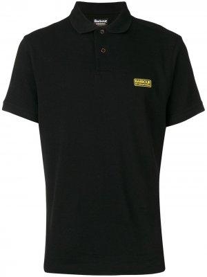 Базовая рубашка-поло Barbour. Цвет: черный