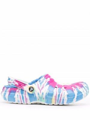 Шлепанцы с перфорацией Crocs. Цвет: синий