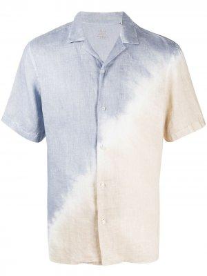 Рубашка с короткими рукавами принтом тай-дай Altea. Цвет: синий
