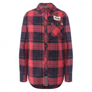 Хлопковая рубашка Garage Harley-Davidson. Цвет: красный