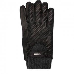 Кожаные перчатки с кашемировой подкладкой и манжетами Zilli. Цвет: чёрный