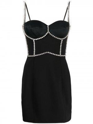 Декорированное платье мини AREA. Цвет: черный