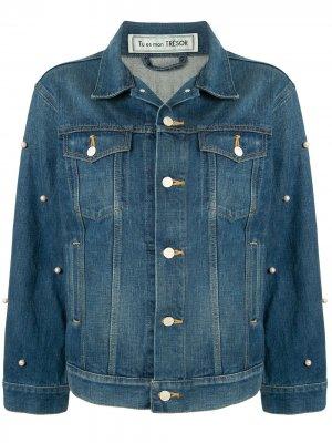 Джинсовая куртка Freedom Tu es mon TRÉSOR. Цвет: синий
