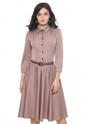 Платье Grey Cat SUSANNA. Цвет: бежевый