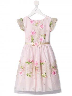 Платье миди с цветочным узором Lesy. Цвет: розовый