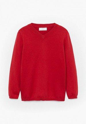 Пуловер Mango Kids - TENPICO. Цвет: красный