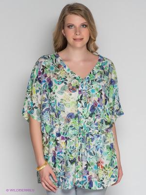 Блузка ARDATEX. Цвет: фиолетовый, белый, зеленый