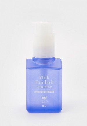 Эссенция для волос Milk Baobab HAIR SYRUP ESSENCE WHITE MUSK, 100 мл. Цвет: прозрачный