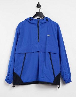 Водонепроницаемая ветровка-пуловер в стиле унисекс unisex live-Голубой Lacoste