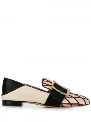 Embroidered loafers Bally. Цвет: белый