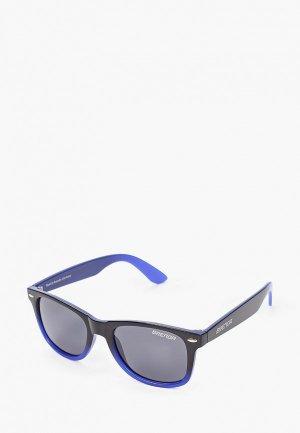 Очки солнцезащитные Brenda P8001 m.black-blue-smoke. Цвет: черный