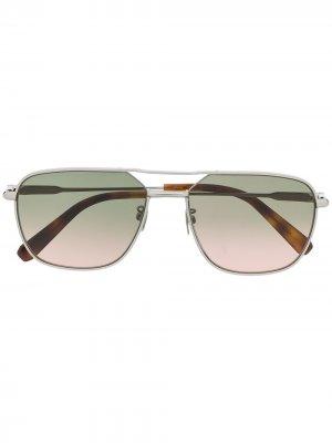 Солнцезащитные очки BR0067S 003 Brioni. Цвет: серебристый