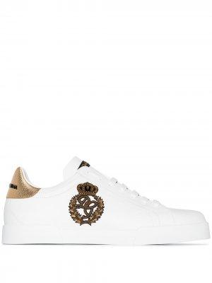 Кроссовки Portofino с логотипом Dolce & Gabbana. Цвет: белый