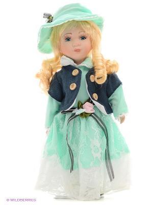 Кукла фарфор Джейн 12 дюймов Angel Collection. Цвет: салатовый, серый