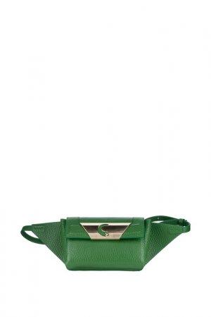 Поясная сумка Carlo Salvatelli. Цвет: зеленый