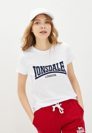 Футболка Lonsdale. Цвет: белый