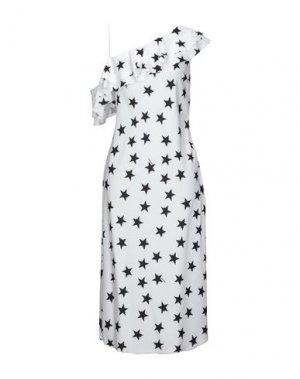 Платье длиной 3/4 AU JOUR LE. Цвет: белый