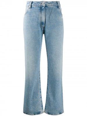 Укороченные джинсы Bootcut Off-White. Цвет: синий