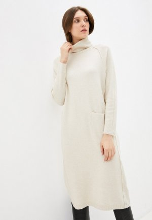 Платье Снежная Королева. Цвет: бежевый