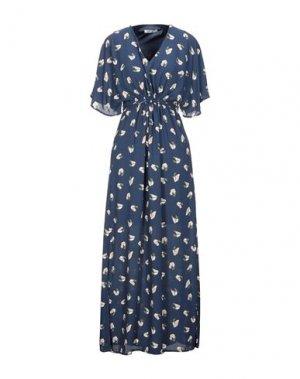 Длинное платье DRY LAKE.. Цвет: темно-синий