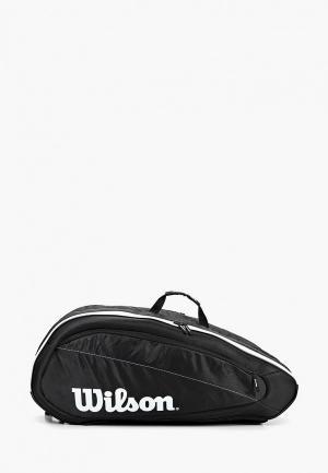 Рюкзак Wilson FED TEAM 6 PACK. Цвет: черный