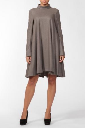 Платье Dennis Basso. Цвет: серый