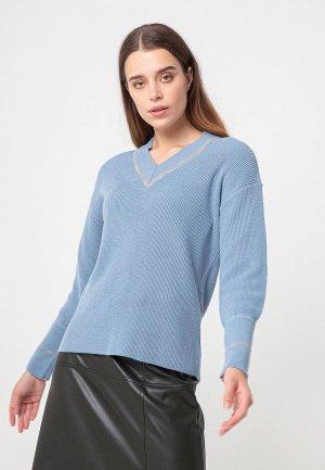 Пуловер BGN. Цвет: голубой