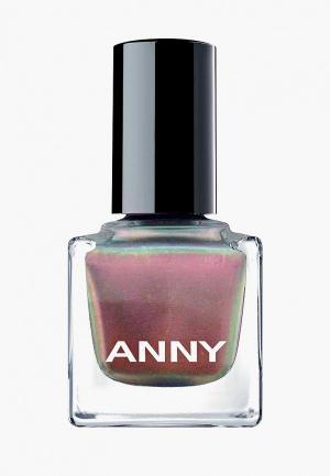 Лак для ногтей Anny тон голографик. Цвет: розовый
