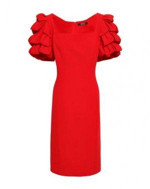 Платье до колена BADGLEY MISCHKA. Цвет: красный