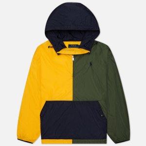 Мужская куртка анорак Eastport Color Block Polo Ralph Lauren. Цвет: оливковый