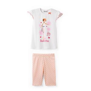 Пижама на 2-10 лет BALLERINA. Цвет: белый наб.рисунок