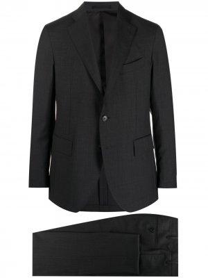 Костюм с однобортным пиджаком Gabriele Pasini. Цвет: серый